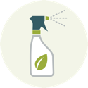 Icon of a cleaning bottle
