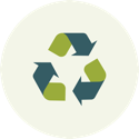 Icon of recyling symbol